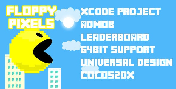 Pixels Floppy Game - CodeCanyon Item for Sale