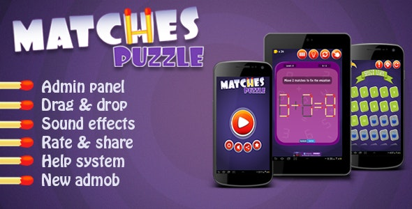 Matches Puzzle - Android Game - CodeCanyon Item for Sale
