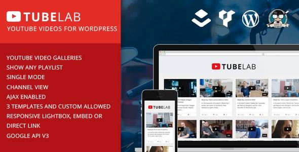 Tubelab - YouTube plugin for WordPress - CodeCanyon Item for Sale
