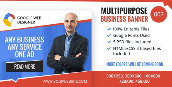 Multipurpose Business Banner 002 - CodeCanyon Item for Sale