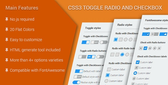 CSS3 Toggle Radio & Checkbox - CodeCanyon Item for Sale