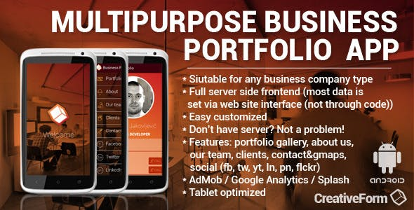 Multipurpose Business Portfolio App