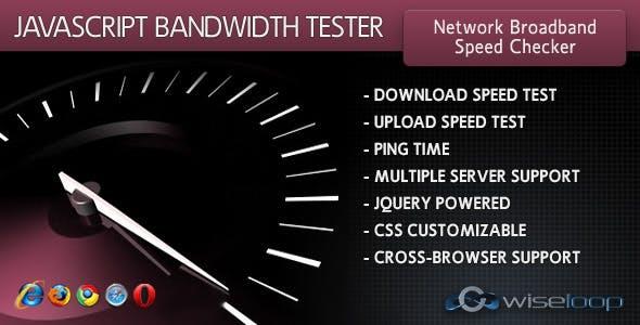 JavaScript Bandwidth Tester