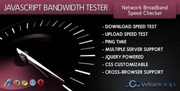 JavaScript Bandwidth Tester - CodeCanyon Item for Sale