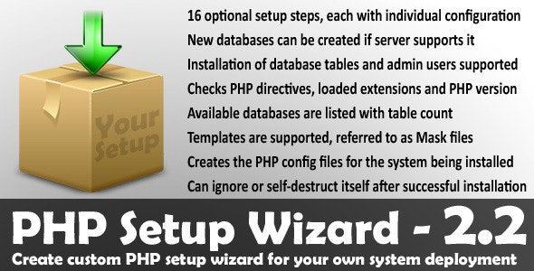 PHP Setup Wizard - CodeCanyon Item for Sale