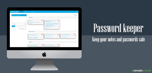 Password Keeper - CodeCanyon Item for Sale