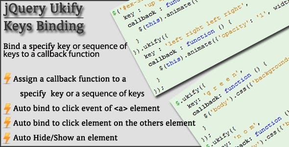 jQuery Ukify - Keys Binding