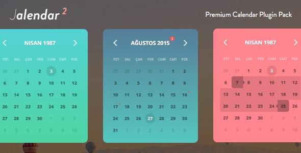 Jalendar 2 Calendar Kit [Events, Range Selecting and More...] - CodeCanyon Item for Sale