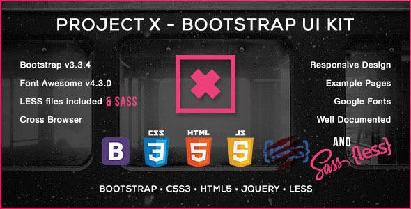 Project X -  Bootstrap Skin & UI Kit