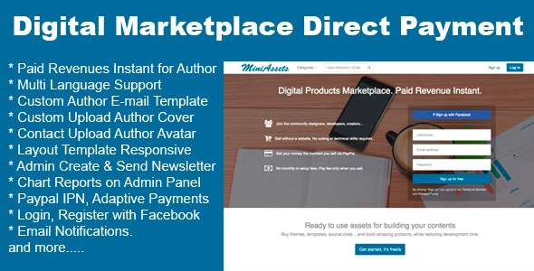 Digital Products Marketplace Direct Payment - CodeCanyon Item for Sale