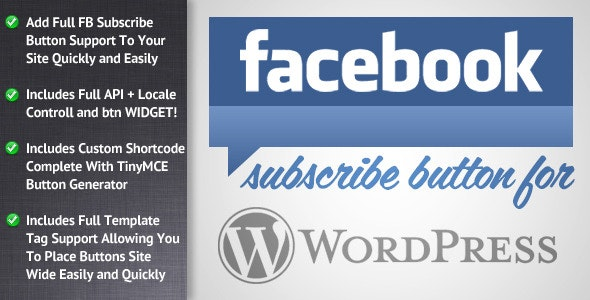 Facebook Subscribe for WordPress - CodeCanyon Item for Sale