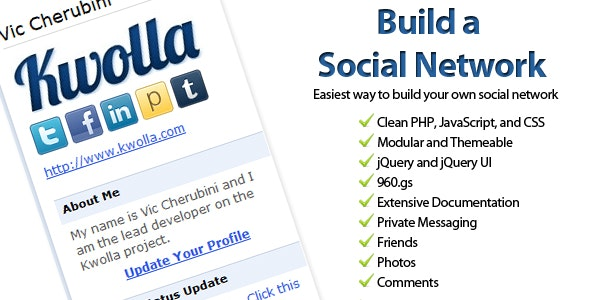 Kwolla Lite Social Network - CodeCanyon Item for Sale