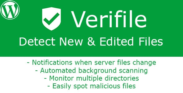 [WP] Verifile - Detect New & Edited Files - CodeCanyon Item for Sale