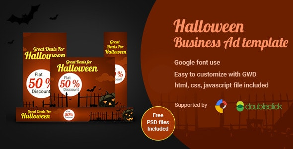 Halloween | HTML5 Google Ad Banner - CodeCanyon Item for Sale