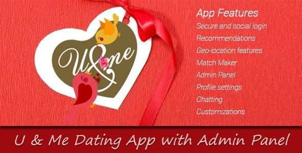 You and Me Dating App with Admin Panel - CodeCanyon Item for Sale