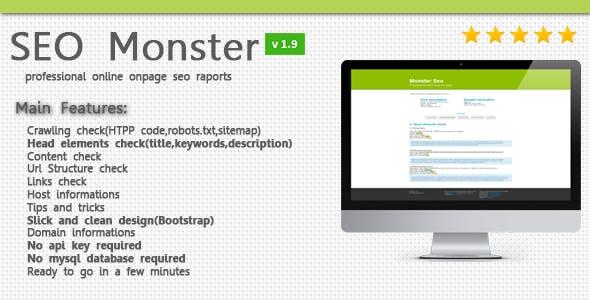 SeoMonster - OnPage SEO Raporting Script
