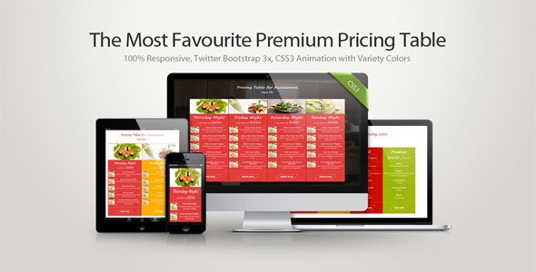 Safa -  The Most Favourite Premium Pricing Table - CodeCanyon Item for Sale