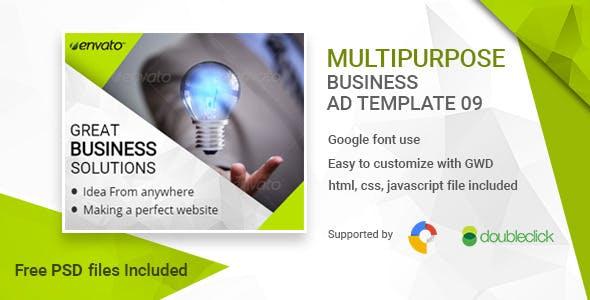 Business | HTML5 Google Banner Ad 09