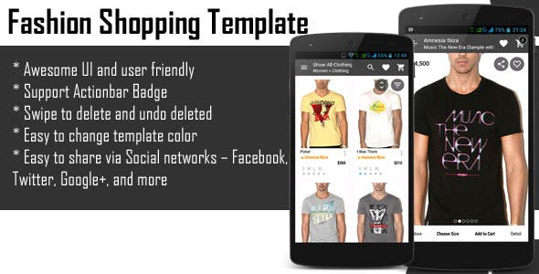 Android Fashion Shopping Template