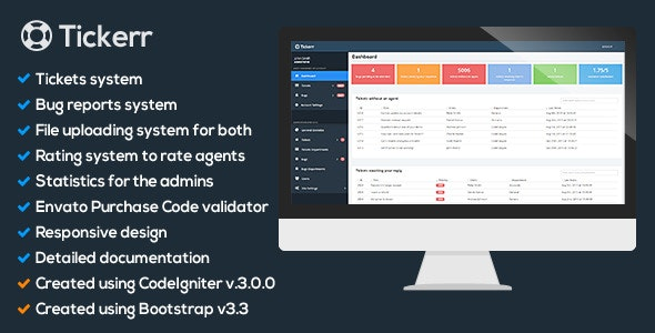 Tickerr - Ticket System - CodeCanyon Item for Sale
