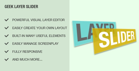 Geek Layer Slider Module - CodeCanyon Item for Sale