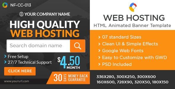 Web Hosting HTML5 Banners - Google Web Designer
