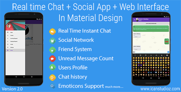 Real Time Chat + Social System + Web Interface  - CodeCanyon Item for Sale
