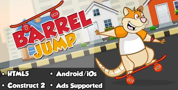 Barrel Jump - HTML5 Mobile Game (Capx)
