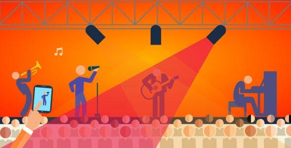 Responsive Musicians Animation
