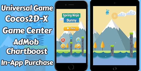 Spring Ninja Game - (Ads + Game Center + iAP) - CodeCanyon Item for Sale