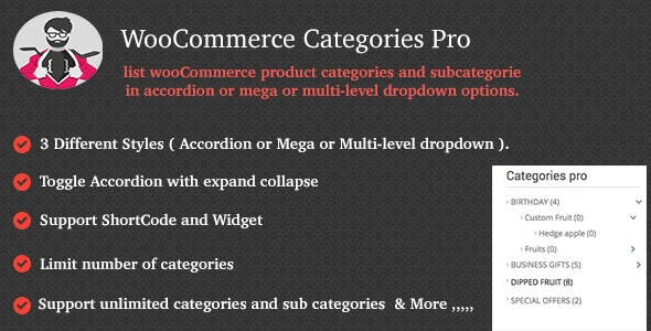 WooCommerce Categories Pro - CodeCanyon Item for Sale