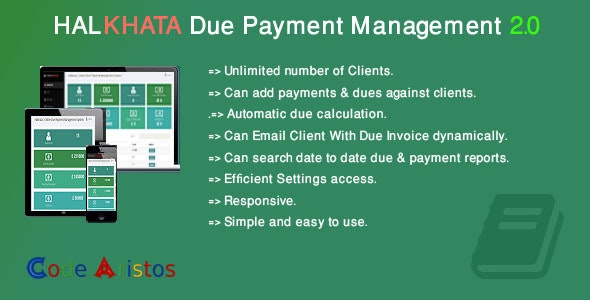 Halkhata Due Payment Management - CodeCanyon Item for Sale