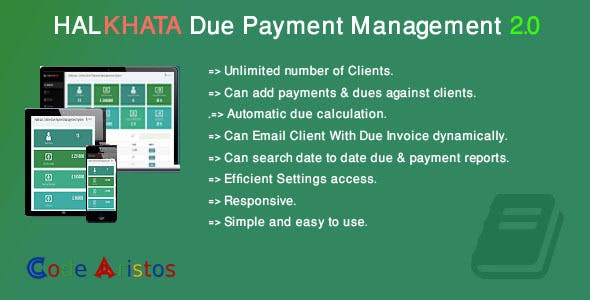 Halkhata Due Payment Management