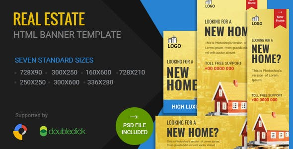 Real Estate | HTML5 Google Banner Ad 01
