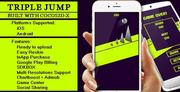 Triple Jump - Cocos2D-X Game for iOS & Android