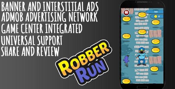 Robber Run + AdMob + Leaderboard
