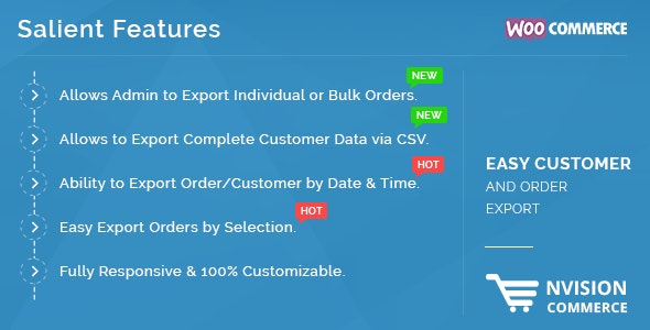 Easy Customer and Order Export in WooCommerce - CodeCanyon Item for Sale