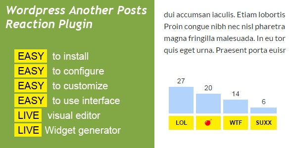 WP Another Posts Reaction - CodeCanyon Item for Sale
