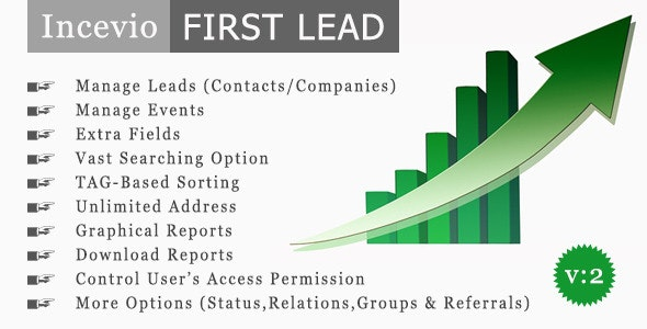 Incevio First Lead - Contacts and Lead Management - CodeCanyon Item for Sale