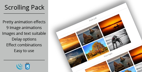 Scrolling Animation Pack - CodeCanyon Item for Sale