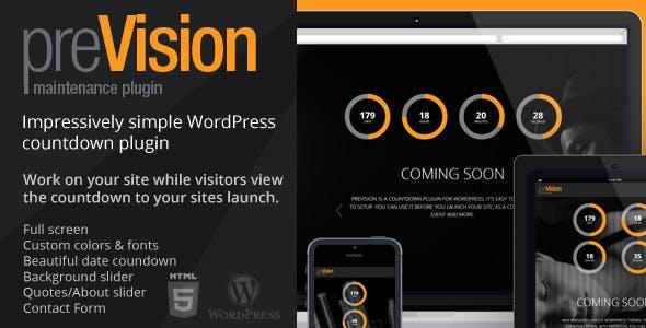 preVision Responsive WordPress Maintenance Plugin