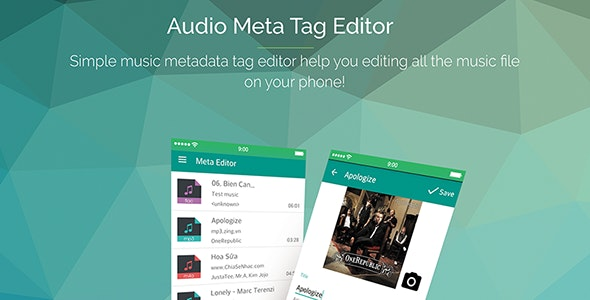 Audio Meta Tag Editor with Admob v1.1 - CodeCanyon Item for Sale