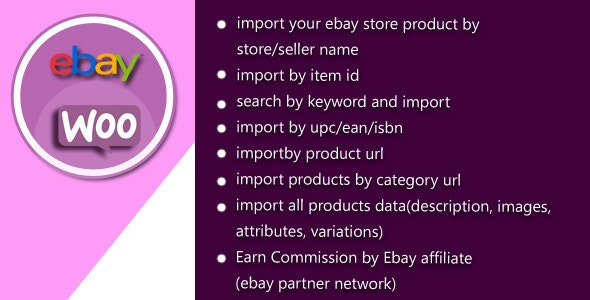 Woocommerce Ebay Product Import Manager - CodeCanyon Item for Sale