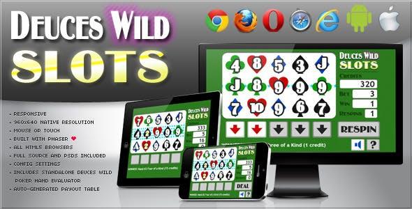 Deuces Wild Slot Machine - HTML5 Game