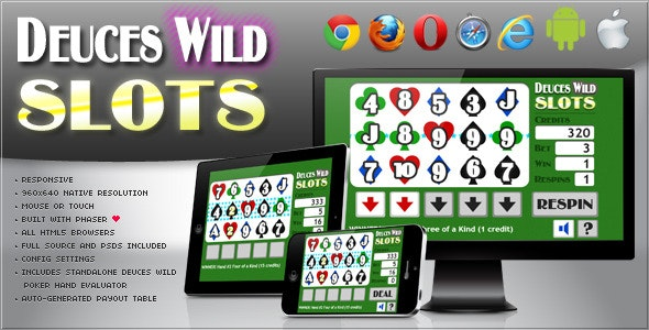 Deuces Wild Slot Machine - HTML5 Game - CodeCanyon Item for Sale