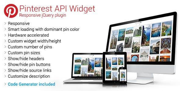 Pinterest API Widget - Responsive jQuery Plugin