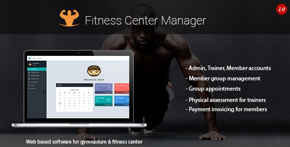 Fitness Center Manager - CodeCanyon Item for Sale