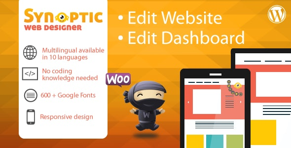 Synoptic Web Designer: best WordPress design tool - CodeCanyon Item for Sale