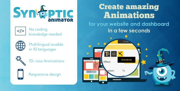 Synoptic Visual Animator: animate your website - CodeCanyon Item for Sale