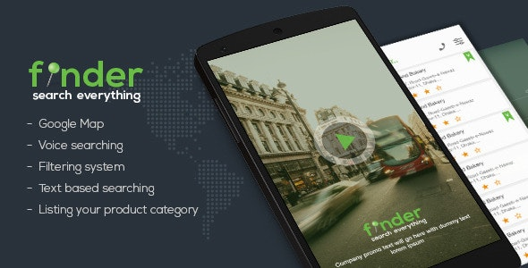 Finder - Android Directory App Template - CodeCanyon Item for Sale